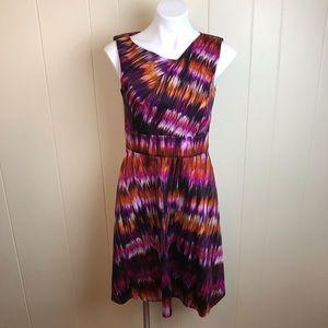 Calvin Klein Sleeveless V Neck Bold Spring Dress